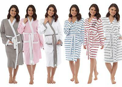 Ladies Undercover Summer Lightweight Dressing Gown Cotton Jersey, Waffle
