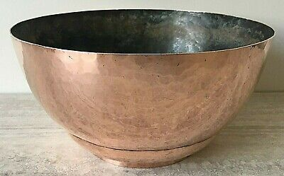 Arts & Crafts Large Hand Beaten Copper Bowl by The Artificers Guild London