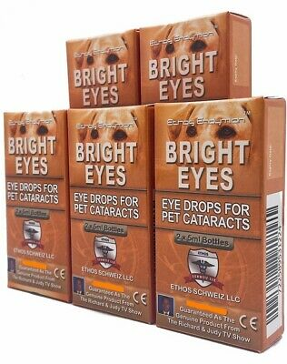 Ethos Bright Eyes Cataract Eye Drops for Dogs 5 Boxes 50ml