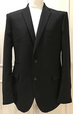 Mens Black Tailored Evening Jacket By Autograph Size 42In Chest