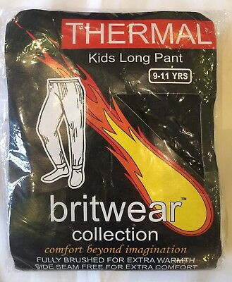 CHILDRENS Thermal Leggings/Long Johns  AGE 9-11 BLACK