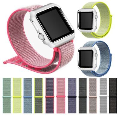 Woven Nylon Sport Loop Watch Band Strap Bracelet For Apple Watch Series 3/2/1