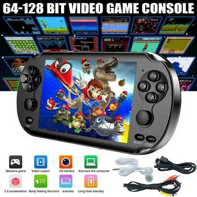 Portable X9 Handheld Video Game Console 128 Bit Built In Game Kids Player Black