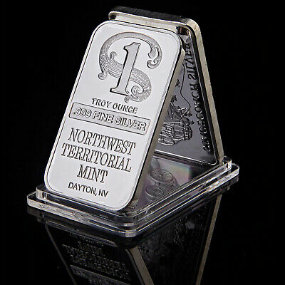 1 oz Northwest Territorial Mint Silver Metal Bar Decoration .999 Fine- 50% OFF