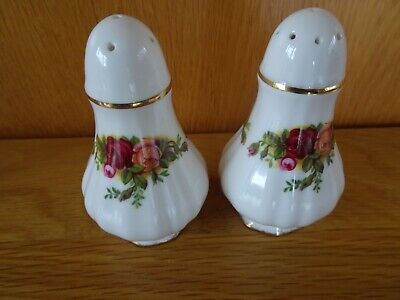 Royal Albert Old Country Roses Salt  Cellar & Pepper Pot Cruet Set