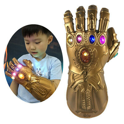 Avengers Infinity War Thanos LED Light Gauntlet Gloves Cosplay Costume Props EF