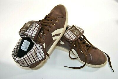 86d515e00 Rare Reebok Classic High Tops Athletic Training Basketball Leather Shoes  Size 9