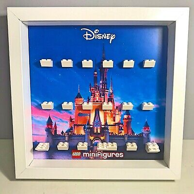 Cornice Vetrina Display Case Lego 71024 Minifigures DISNEY Serie 2 Castello