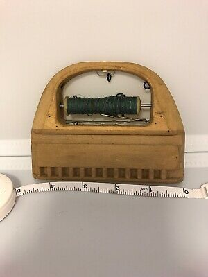 Vtg Textile Wooden Weaving Shuttle 4.5 In RIEHL & SON 635xR354 Bobbin Thread