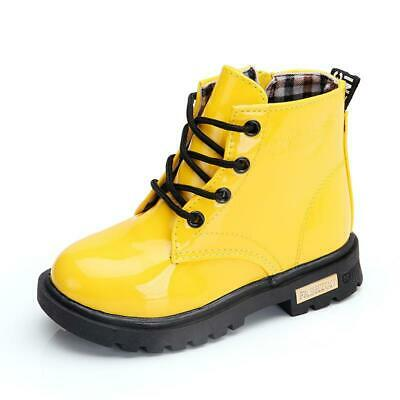 Children's Martin Boots Kids Girls Boys Shoes Leather Casual Breathable Soft