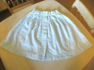 VINTAGE 1990's MARKS & SPENCER GIRLS PALE BLUE SKIRT  AGE 5-6 YEARS HEIGHT 110