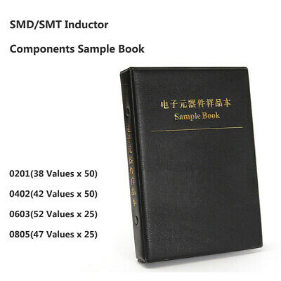 0402 SMD LQG15HS Components Samples Book Inductors Assorted Kit 42 Values
