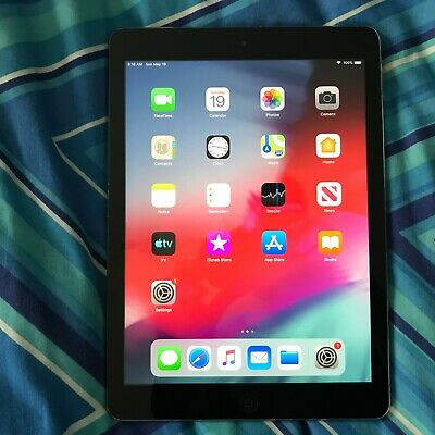 Apple iPad Air 1st Gen. 16GB, Wi-Fi, 9.7in - Space Grey - Wiped and Restored