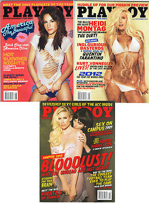 PLAYBOY Lot of 3 June,Sept,Oct 2009-America Oliva, Heidi Montag, Sex On Campus