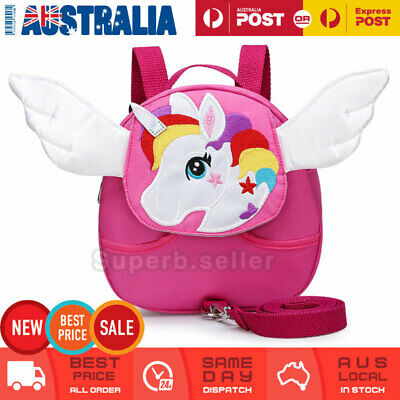 Children Kids Walking Harness Unicorn Backpack Kids/Toddler Safety Leash Strap