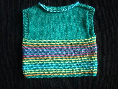 Baby clothes BOY GIRL 3-6m professionally knitted multi sleeveless sweater