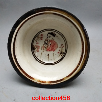 China old antique rare Song dynasty Cizhou kiln High foot cup