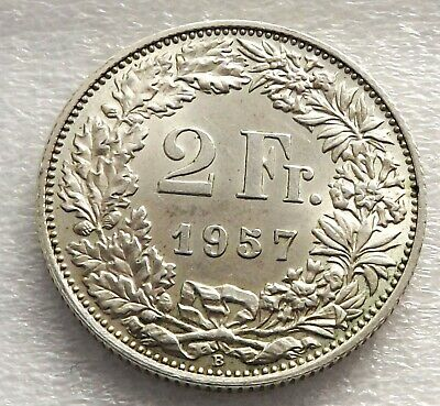 Switzerland 1957-B 2 Francs -EF Silver C|6046
