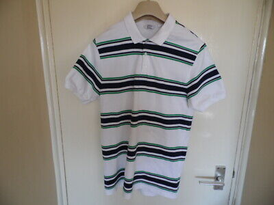 Gents short sleeve, collared, striped top from Next size S