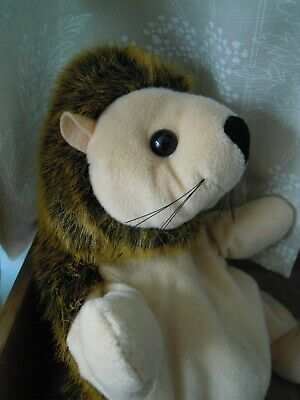 Hand Puppet. Hedgehog.Soft. Great Condition.Quality Toy. No Label .Vintage.