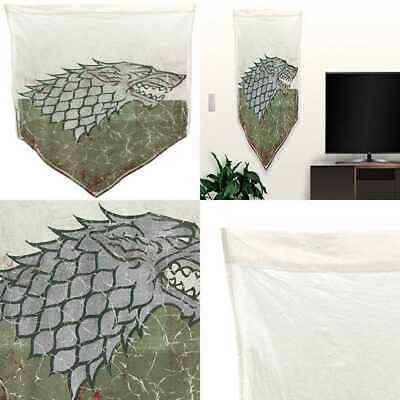 "Game Of Thrones Battle Worn Banner 27"" X 45"" House Stark PARTY"