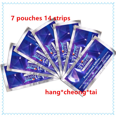Crest3D Professional Effects Teeth Whitening Whitestrips 7 10 15 20 40 Pouches