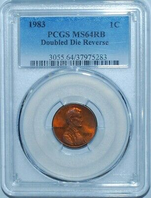 1983 PCGS MS64RB FS-801 Red Brown DDR Double Doubled Die Reverse Lincoln Cent