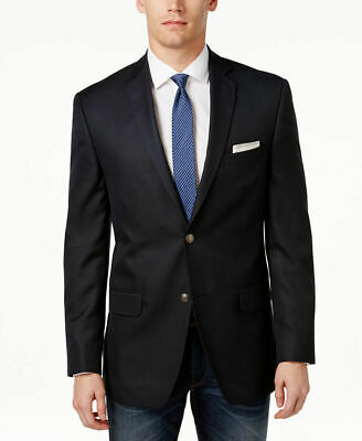 $302 Alfani Men'S 44r Blue Slim Fit Two Button Suit Jacket Blazer Sport Coat
