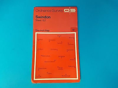 Sheet 157 Swindon OS Map One Inch Series Orange Ordnance Survey