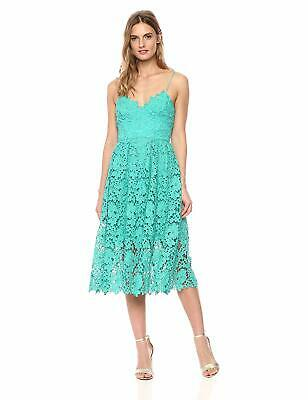 2780f03b23d9 DONNA MORGAN WOMEN'S Chemical Lace Spaghetti Strap Midi Dress, Sea ...