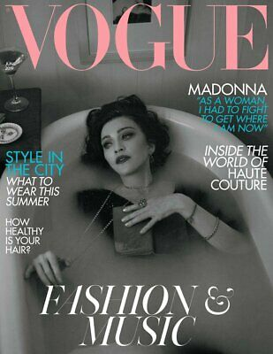 BRITISH UK VOGUE MAGAZINE JUNE 2019 MADONNA Fashion and Music Issue