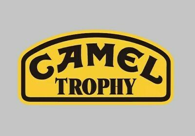 Camel Trophy Set of 2  Decal Stickers 75mm Race Car Bike Racing Rally