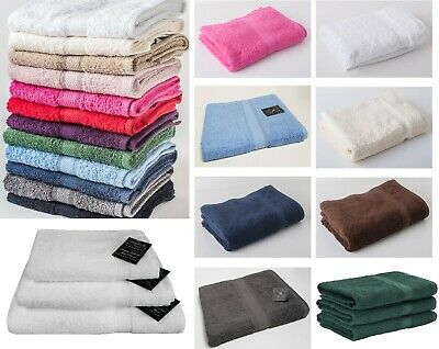 Victoria London Bath Sheet Hand Face Towels Pure Egyptian Cotton Soft 500GSM