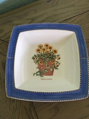 Wedgwood Sarah's Garden Dish Square After Dinner Mints Sweets VGC. 7.5 Inches