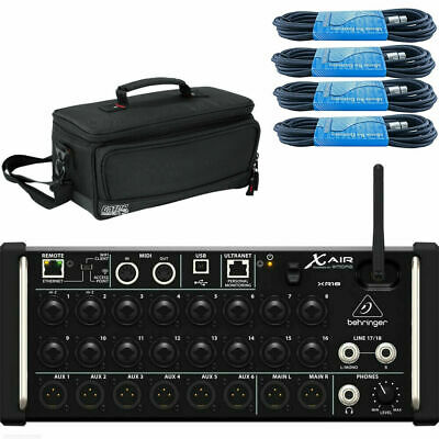Behringer X Air XR18 with Gator case & XLR cables