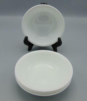 4 Corning Ware Corelle Winter Frost White Round Fruit Dessert Sauce Bowl Lot