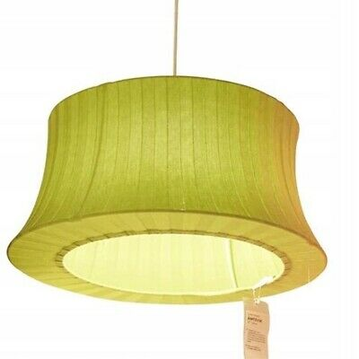 """IKEA Amtevik Shade Green Knit Cover Discontinued 22"""" Whimsical Lamp Light"""