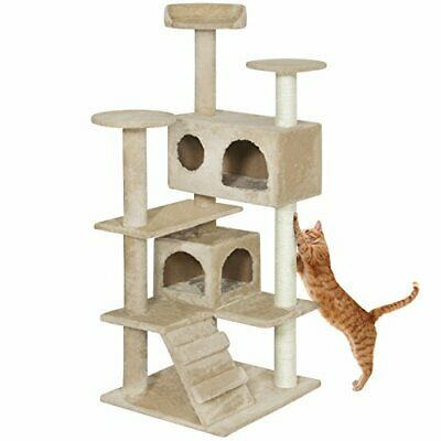 """Multi Level Cat Tree Scratcher Condo Tower for Kittens to Small Cats (53"""")"""