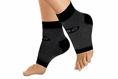 Breathable Compression Foot Sleeve Relives Plantar Fasciitis Heel Pain - Black M