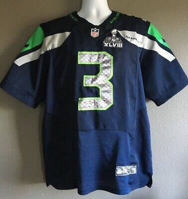 Cheap RUSSELL WILSON #3 Seattle Seahawks Men's White Color Nike Jersey NWT  for cheap