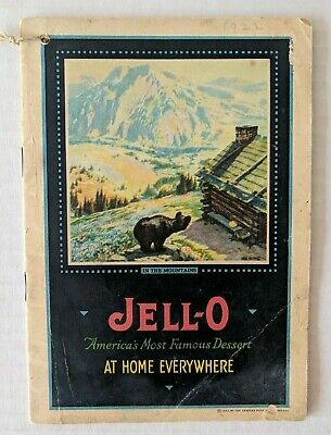 Vintage 1922 JELLO Recipe Book JELL-O Softcover Cookbook