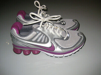 Details about NIKE SHOX QUALIFY Women's 8 Training Running Shoes PinkMetallic Gray Youth 6.5