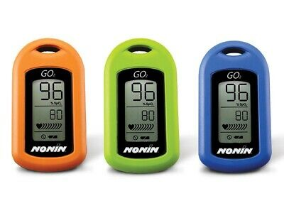Nonin Go2 Pulse Oximeter Green - Good Working Order