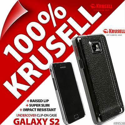 Krusell Undercover Black Gaia Back Case Cover for Samsung i9100 Galaxy S2 S II