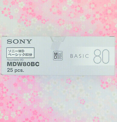 Sony☆Japan-Recording MD mini disc BASIC 80 minutes 25P set MDW80BC,Track#