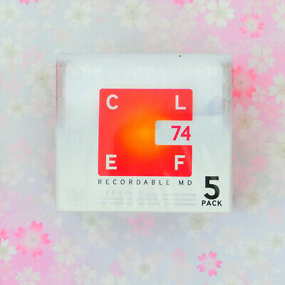 TDK Japan-MD (mini disc) 75 minutes CLEF  5P pack MD-CL74X5N