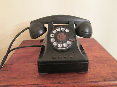 Antique Bell System Western Electric  Prewar 12 41 Rotary Push Button telephone