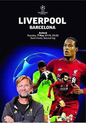 PIRATE Programme Liverpool v Barcelona 2019 Champions League