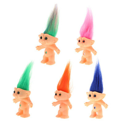 5 Pieces 10cm Nude Troll Lucky Doll Action Figures Toy Pencil Topper Craft