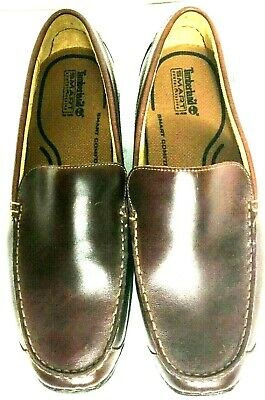 c07ac3d14e TIMBERLAND SMART COMFORT Brown Leather Slip On Loafers MENS 12M ...